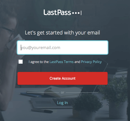 LastPass getting started email