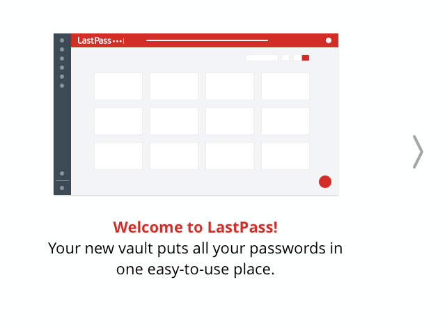 LastPass welcome tour