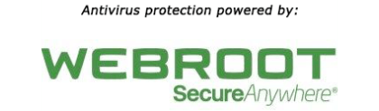 Webroot antivirus logo linked to website.